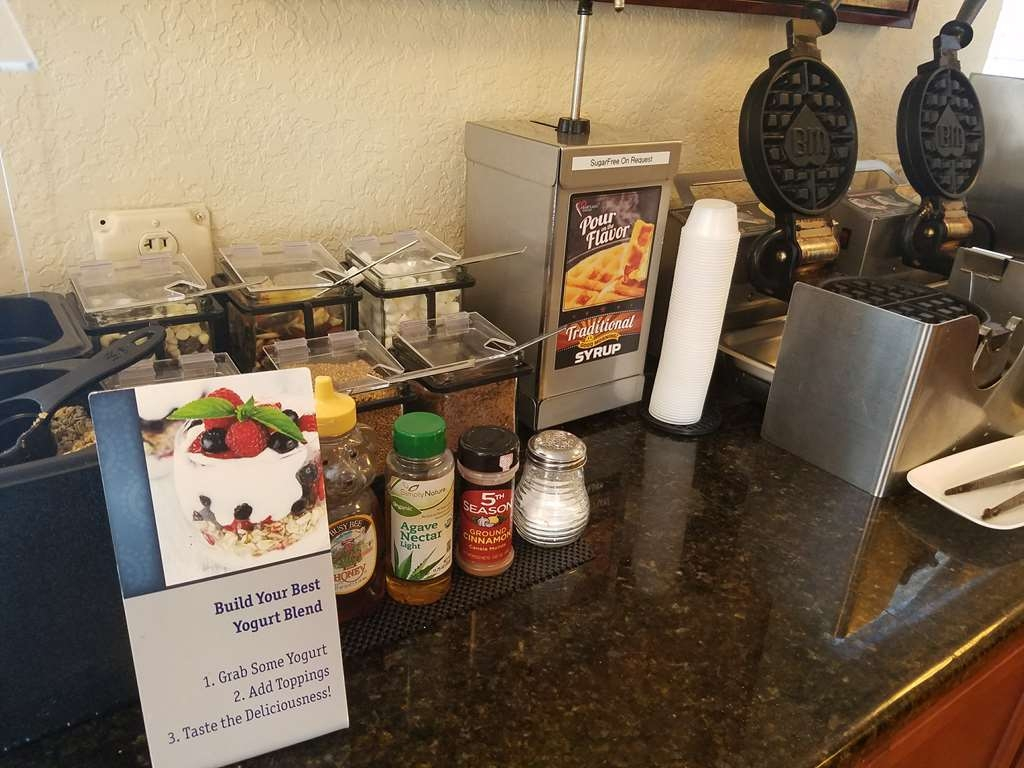 Best Western Space Shuttle Inn - Make your own waffles, with lots of delicious mixins and fruit toppings.