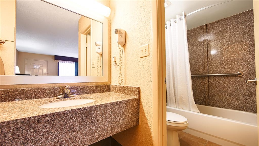 Best Western Starke - All guest bathrooms have a large vanity with plenty of room to unpack the necessities.