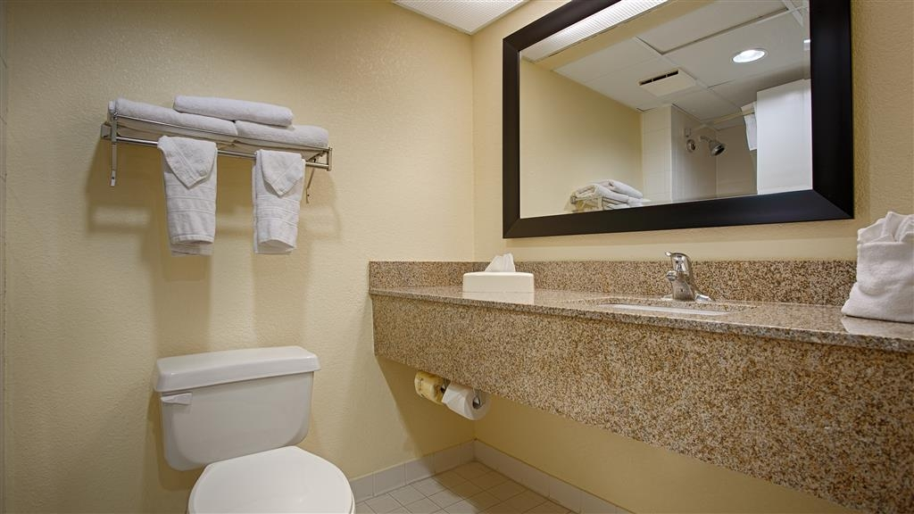 Best Western Gateway to the Keys - All guest bathrooms have a large vanity with plenty of room to unpack the necessities.