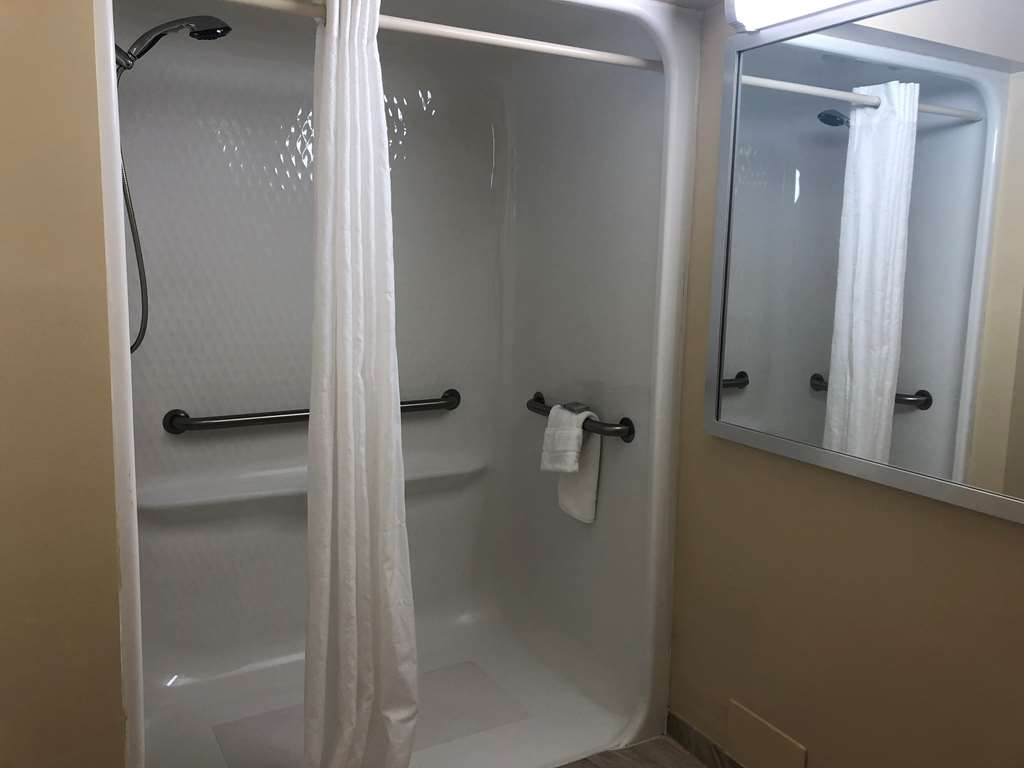 Best Western On the Bay Inn & Marina - King Accessible Roll in Shower Bathroom