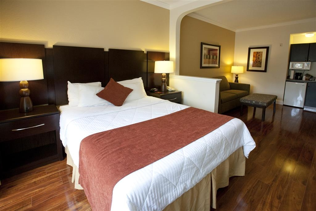 Best Western Plus Ambassador Suites Venice - Suite with One Queen Size Bed and Laminate Floors