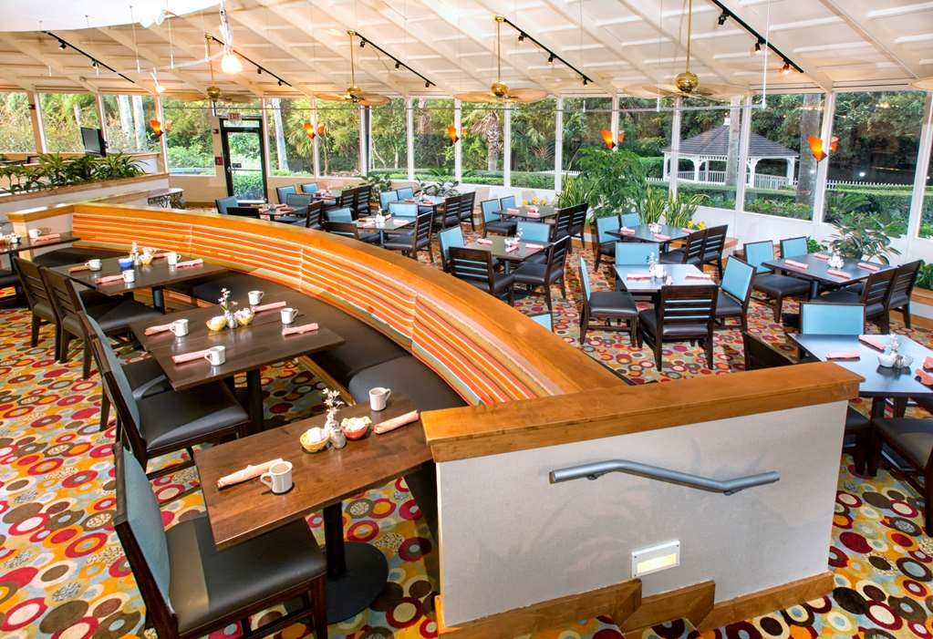 Best Western Lake Buena Vista - Disney Springs Resort Area - Traders Island Grill open for Breakfast and Dinner. Ask about our kids eat free program.