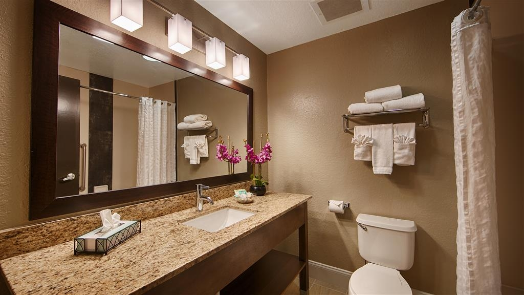 Best Western Airport Inn & Suites - All guest bathrooms have a large vanity with plenty of room to unpack the necessities.