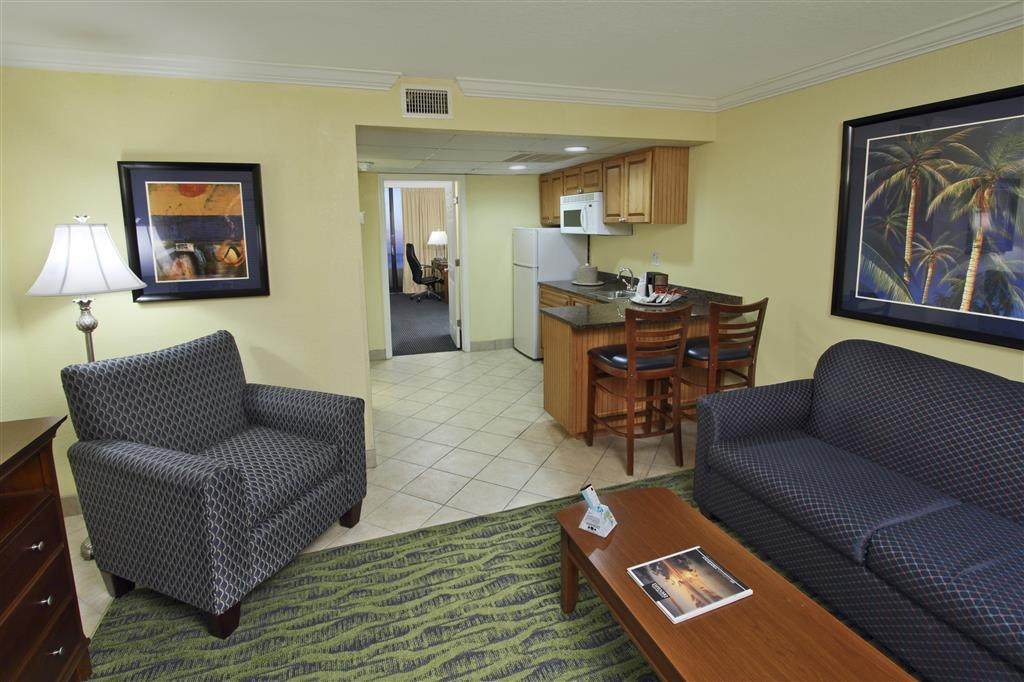 Best Western Cocoa Beach Hotel & Suites - Relax in our non-oceanfront two room suite at the Best Western Ocean Beach Hotel & Suites. Enjoy access to a kitchen and separate bedroom.