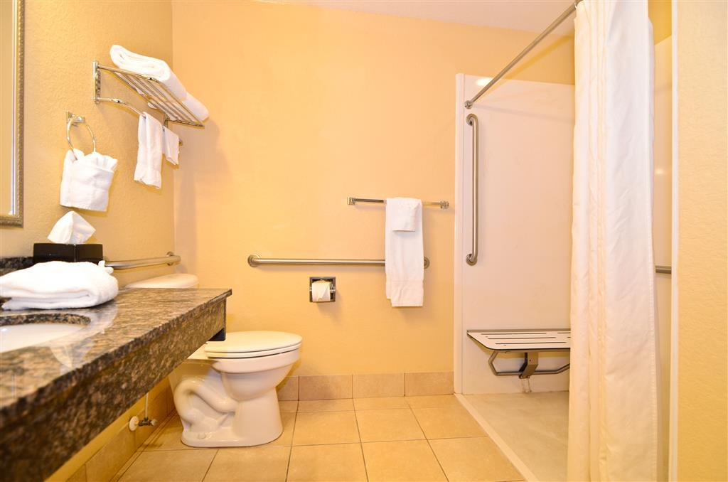 Best Western Heritage Inn & Suites - Mobility Accessible Bathroom available in our ADA Queen Deluxe Room (includes two queen size beds)