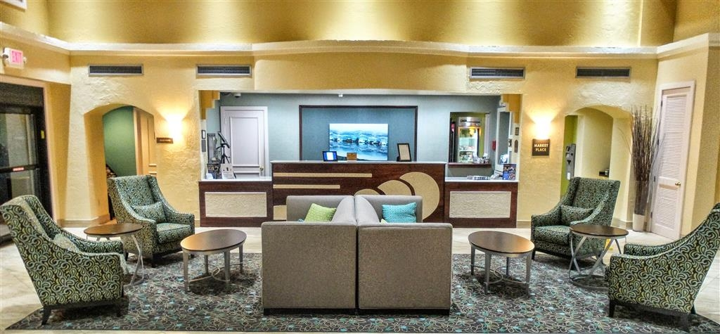 Best Western Plus Deerfield Beach Hotel & Suites - Our lobby is the perfect spot to relax after a long day of work and travel.