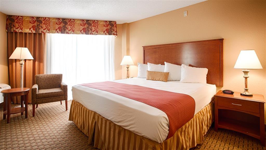 Best Western Castillo Del Sol - Disfrute de un magnífico descanso nocturno en nuestra habitación con cama de matrimonio extragrande.
