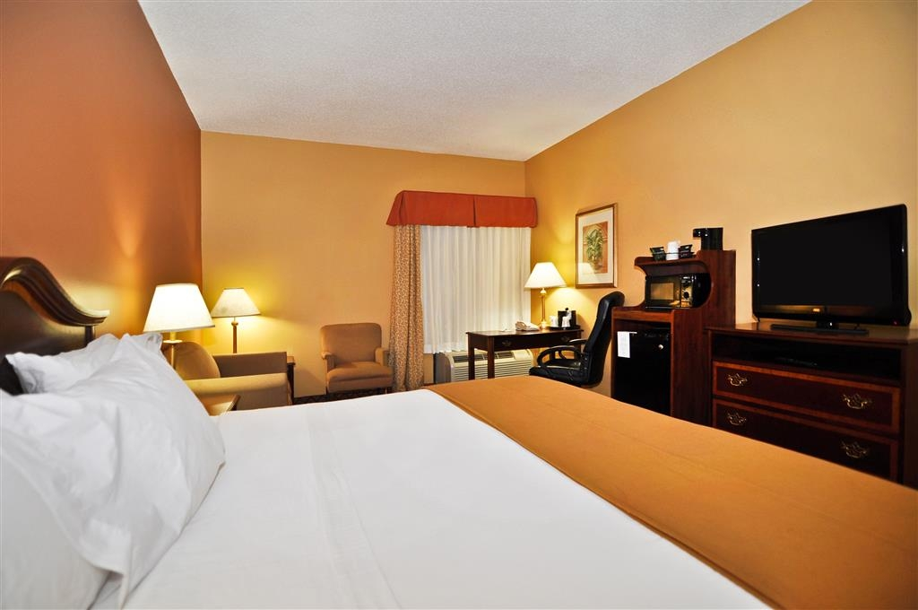 Best Western Plus Madison Inn - Our king guest room has all the comforts you need after a long day.