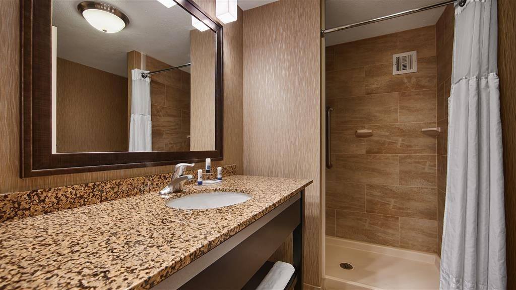 Best Western Plus Tallahassee North Hotel - All guest bathrooms have a large vanity with plenty of room to unpack the necessities.