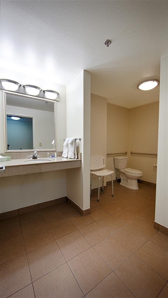 Best Western Plus Atlanta Airport-East - All guest bathrooms have a large vanity with plenty of room to unpack the necessities.