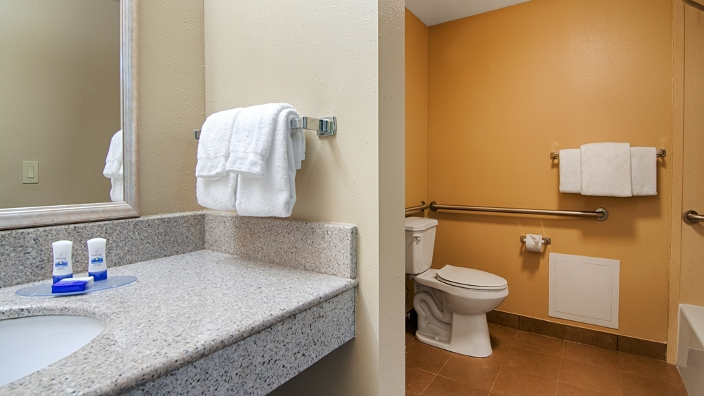 Best Western Plus Atlanta Airport-East - Our assisted bathroom come with grab bars to help you move around with ease!
