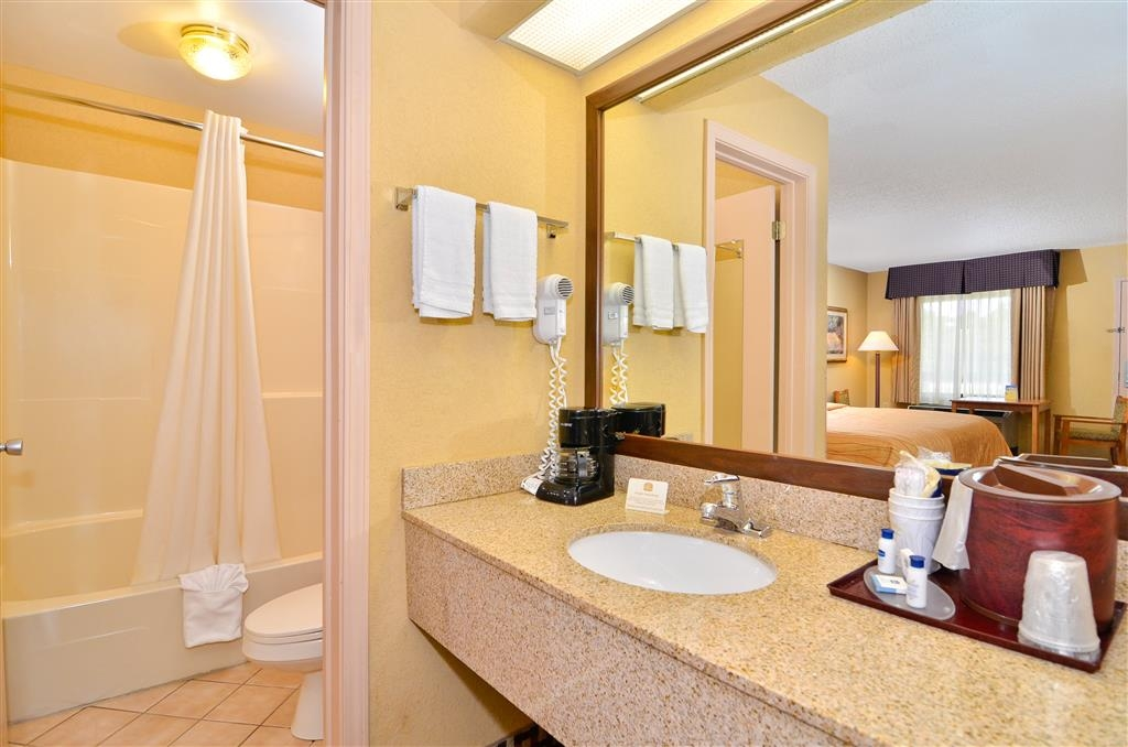 Best Western Bradford Inn - All guest bathrooms have a large vanity with plenty of room to unpack the necessities.