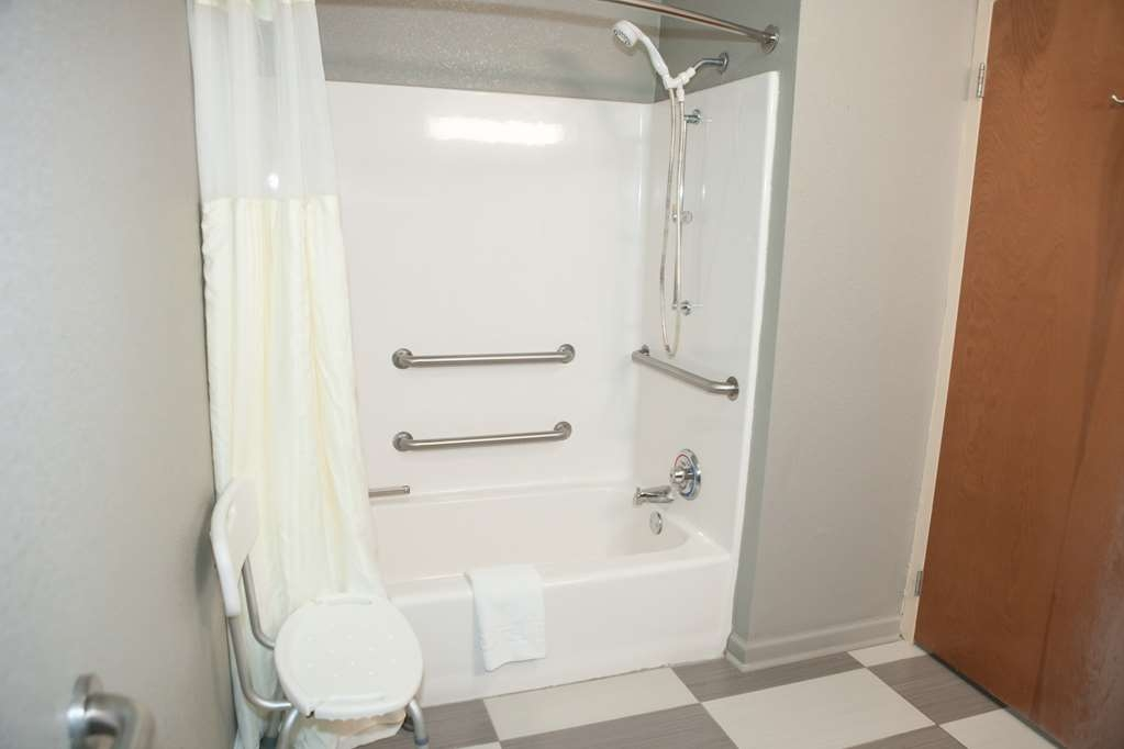Best Western Commerce Inn - ADA Mobility Accessible Bathroom with Walk-in Shower