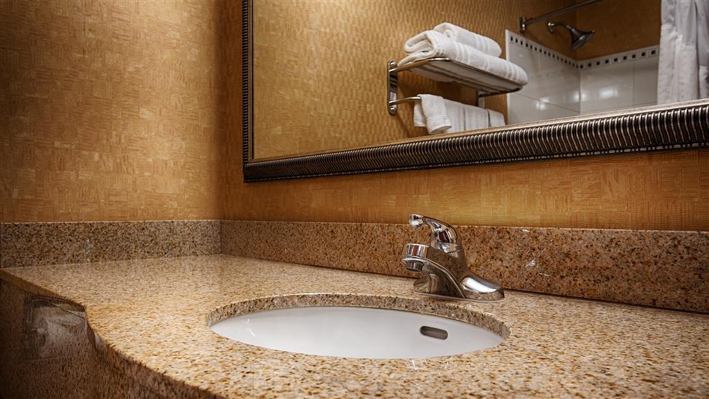Best Western Gwinnett Center Hotel - Toutes les salles de bains disposent d'un très grand lavabo offrant assez de place pour pouvoir y poser vos affaires de toilette.