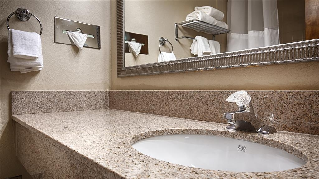Best Western Plus Madison-Huntsville Hotel - All guest bathrooms have a large vanity with plenty of room to unpack the necessities.