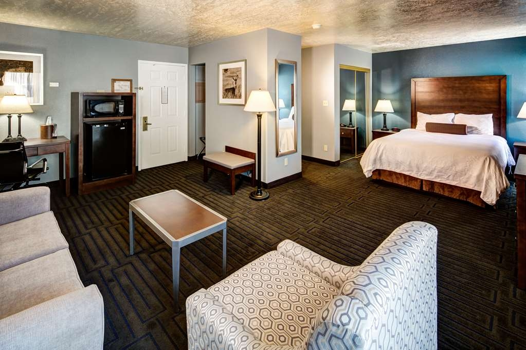 Best Western Pocatello Inn - A very large room with a queen bed and sofa pullout guest room with a refrigerator and microwave.