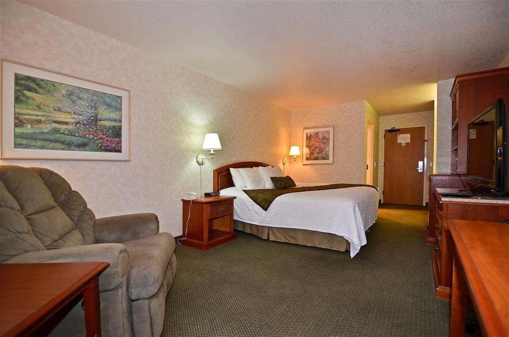 Best Western Plus Twin Falls Hotel - Guest room with King Size Bed and Pull out sofa.