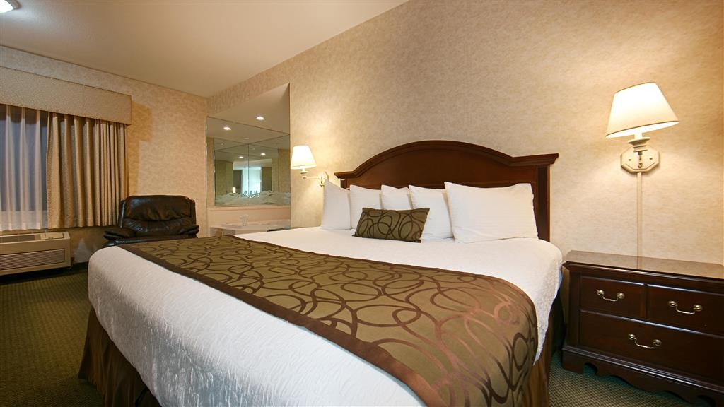 Best Western Plus Twin Falls Hotel - Spacious room with King bed.
