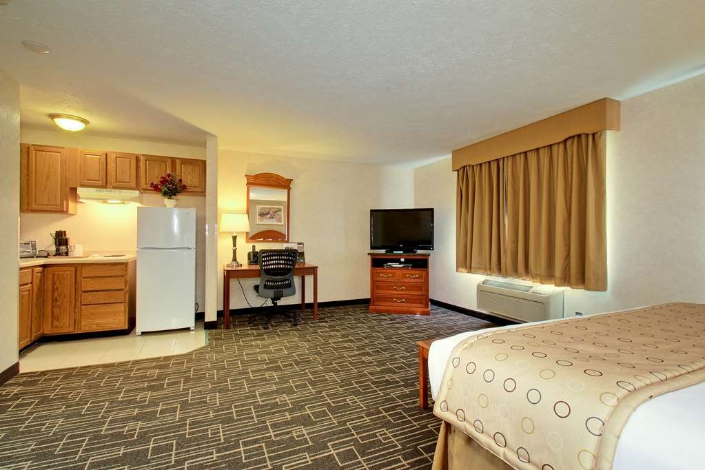 Best Western Airport Inn - Studio guest room with a king bed.