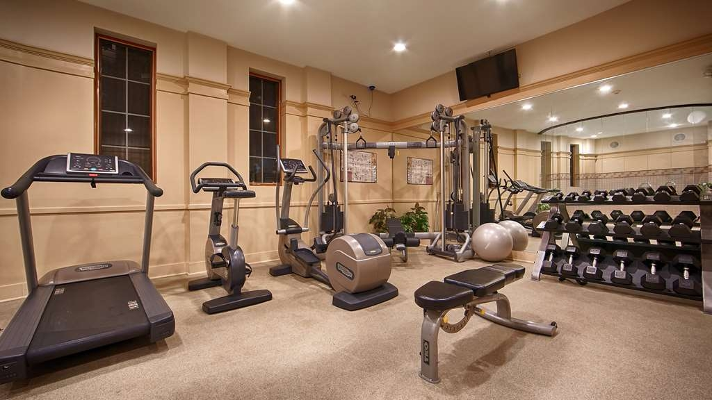 Best Western Plus Hawthorne Terrace Hotel - Our fitness center features a stationary bike elliptical machine treadmill and free weights.