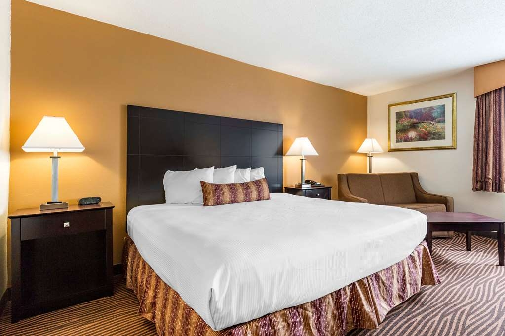 Best Western Des Plaines Inn - Stretch out and relax in the King Guest Room with sofa bed.