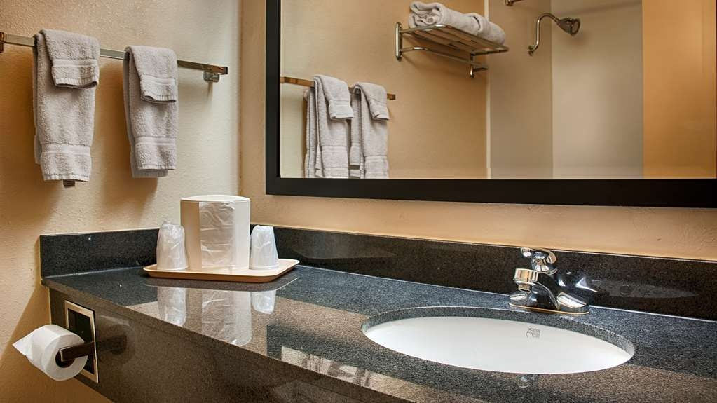 Best Western Prairie Inn & Conference Center - All guest bathrooms have a large vanity with plenty of room to unpack the necessities.