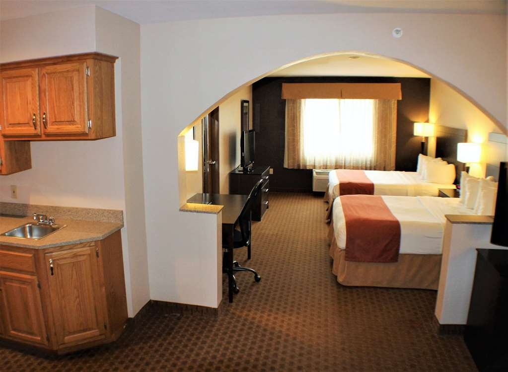 Best Western Lorson Inn - 2 Queen Suite is an oversized room with kitchenette and sofa sleeper.