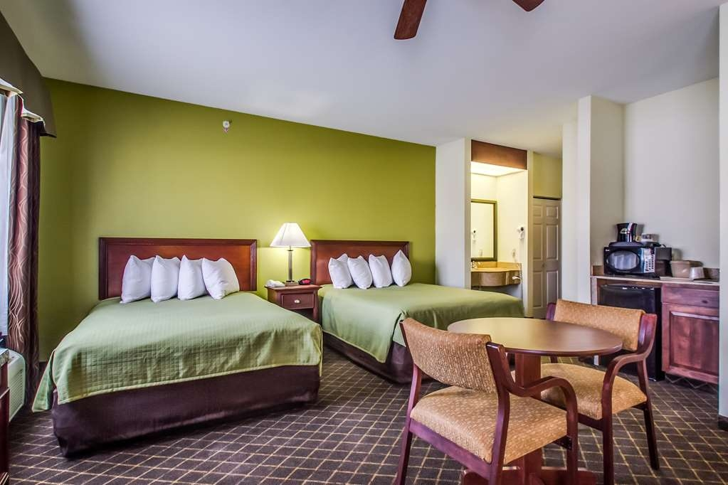 Best Western Geneseo Inn - Large room with two queen beds, refrigerator, microwave, sink and flat screen T.V.