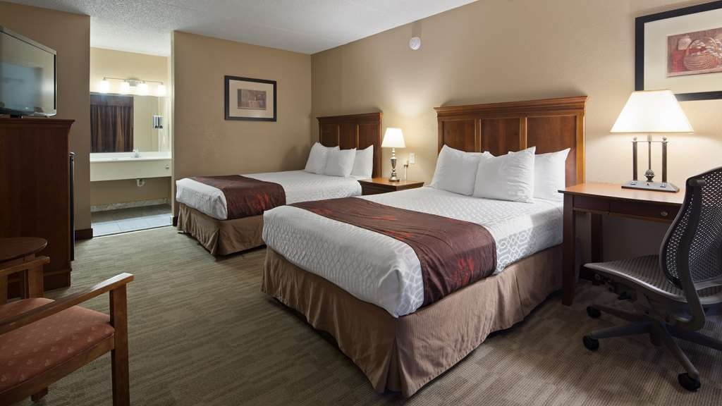 Best Western Inn - Make yourself at home in our Two Double Bed Guest Room.