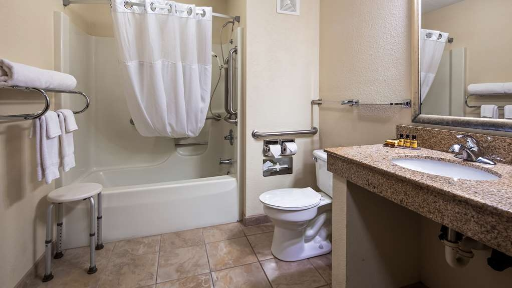 Best Western Plus Anderson - Our Mobility Accessible bathrooms provide convenience for guests with disabilities.