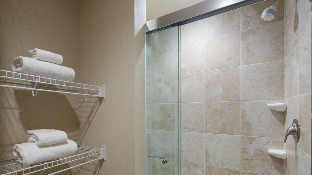 Best Western Plus French Lick - New, modern showers are found in every kind guest room.
