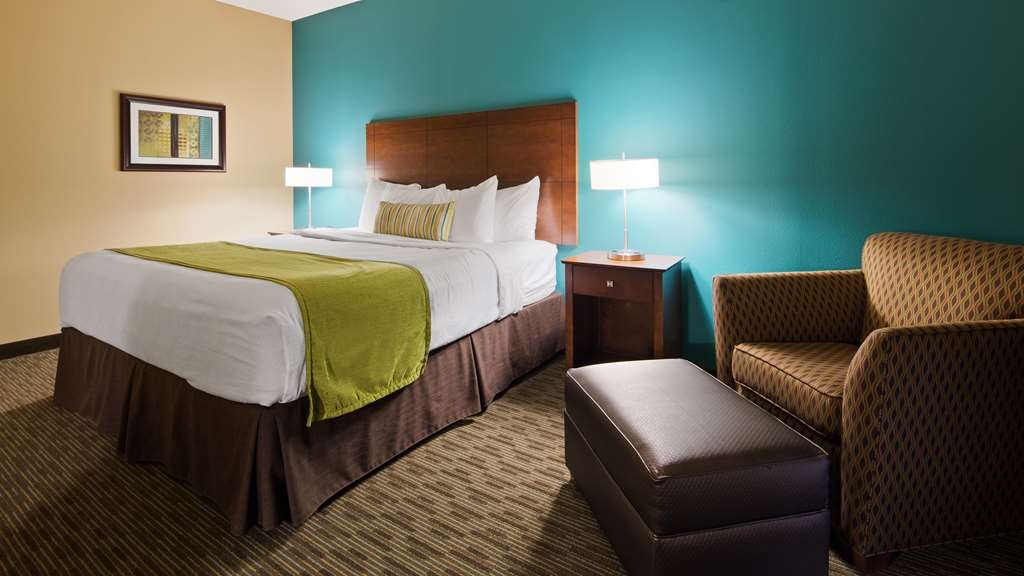 Best Western Plus French Lick - Settle in for the evening and relax in modern, traditional king executive guest room.
