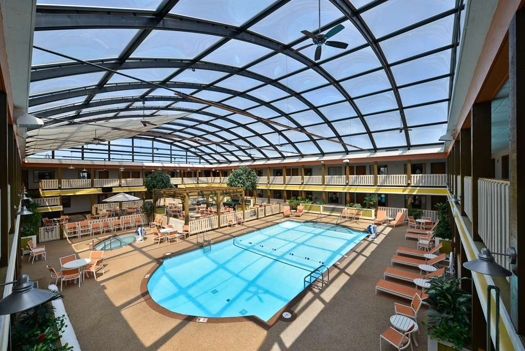 Best Western Plus Dubuque Hotel & Conference Center - Our indoor pool in our domed atrium is perfect for relaxation or a fun party area.