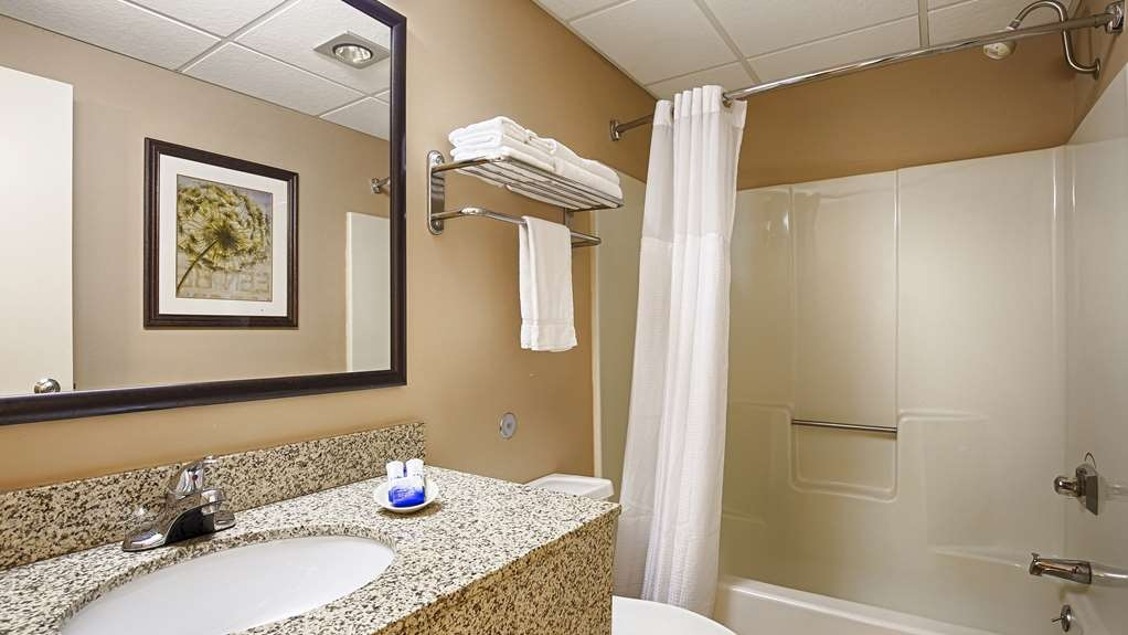 Best Western Plus Steeplegate Inn - Recently updated bathrooms in our upgraded room types at The Best Western Plus SteepleGate Inn Davenport in Davenport, Ia.