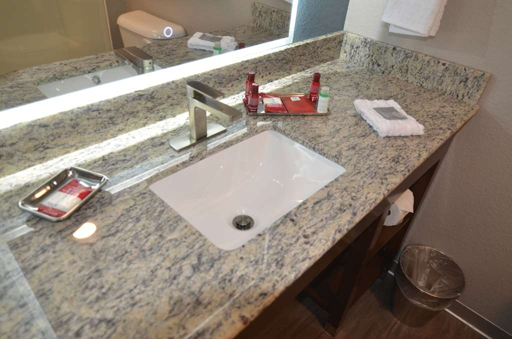 Best Western Premier Ankeny Hotel - Rooms amenities including hair dryer and LED light up mirror