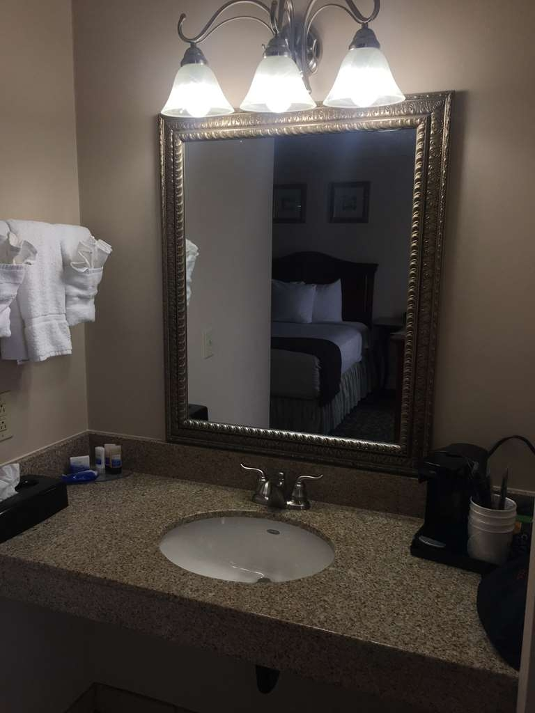 Best Western Plus French Quarter Landmark Hotel - All guest bathrooms have a large vanity with plenty of room to unpack the necessities.