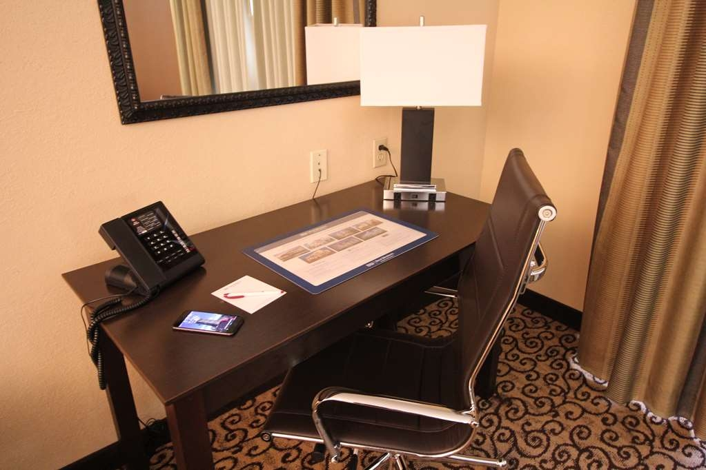 Best Western Plus Slidell Hotel - Well lit work desk with free wi-fi and convenient outlets.