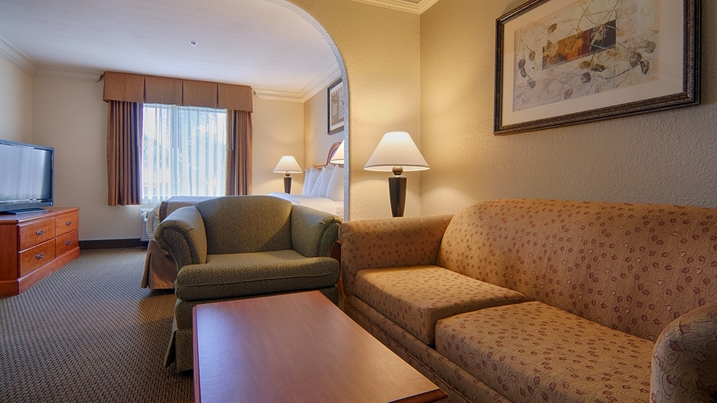 Best Western Isabelle Court - Our king suite features a sitting area with a sofa bed, dvd player, as well as microwave and refrigerator for your convenience.