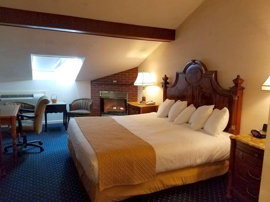 Best Western White House Inn - King Room Fireplace - Skylight Window