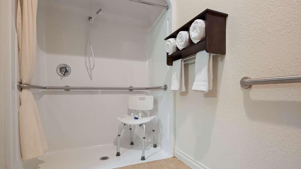 Best Western Port Huron Blue Water Bridge - Handicap bathroom with roll-in shower