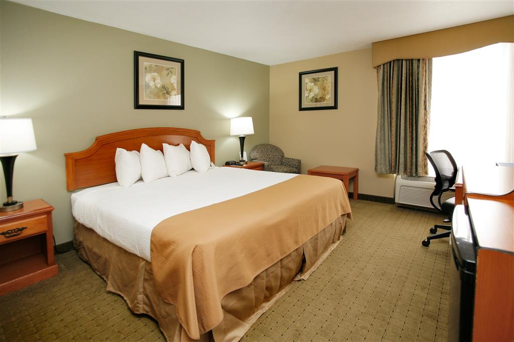Best Western Executive Inn - Our king sized bed guest room is business-traveler friendly. It features a desk desk chair and free high-speed Internet.