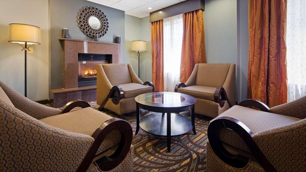 Best Western Plus Coldwater Hotel - Stay warm by the fireplace or settle into one of the comfortable chairs.