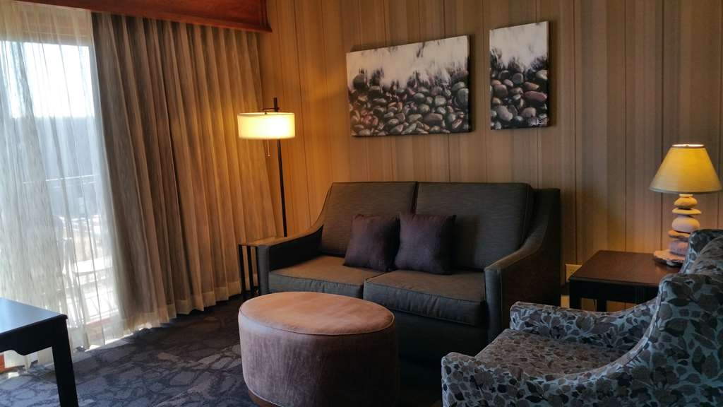 Best Western Plus Superior Inn - Enjoy the new decor of the sitting areas of our John Beargrease Wing. The sofa also functions as a sofa sleeper if desired.