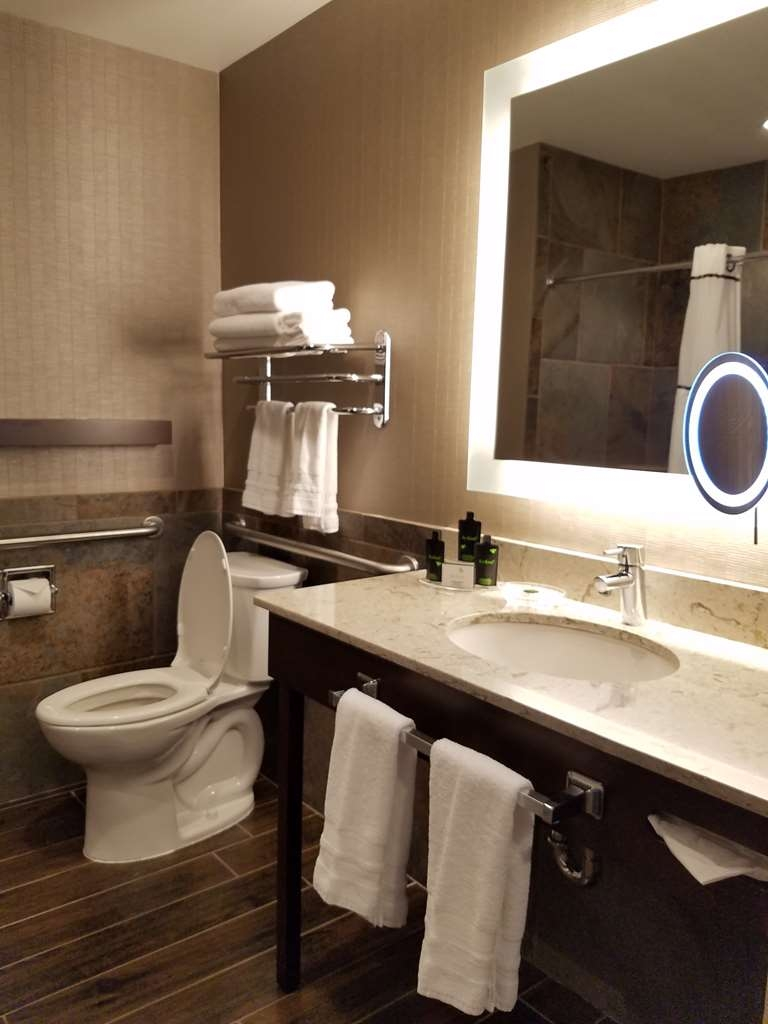 Best Western Plus Superior Inn - Standard king guest bathroom accessible