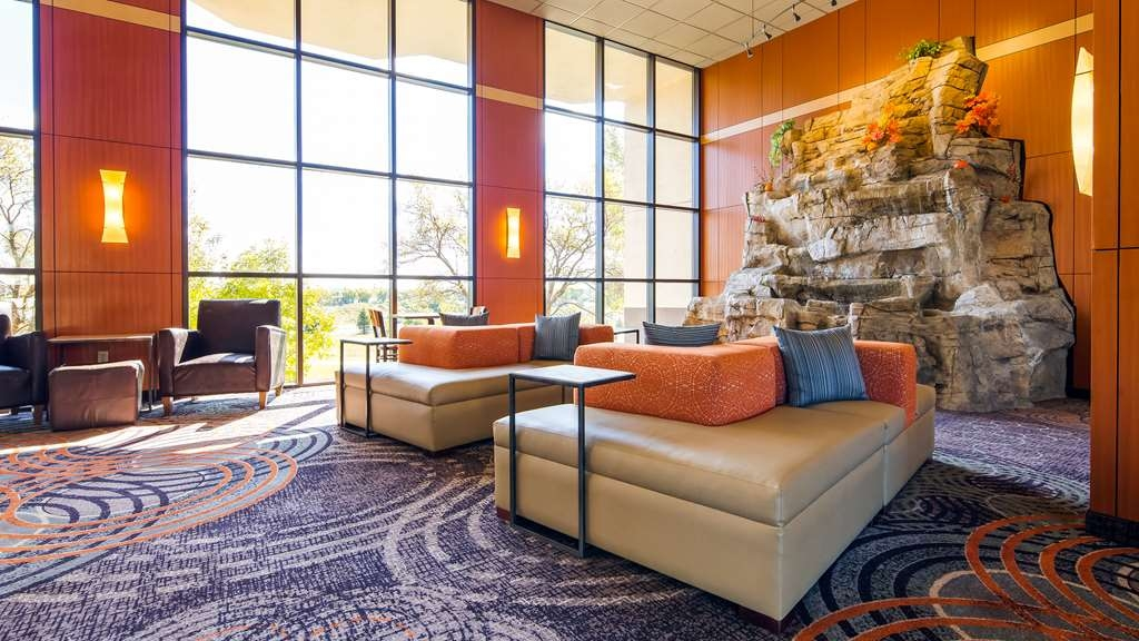 Best Western Plus Dakota Ridge - Our lobby is the perfect spot to unwind after a long day of work or travel with a 15 foot waterfall!
