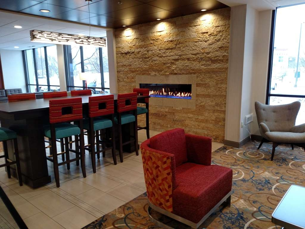 Best Western Plus Capitol Ridge - Relax next to the new fireplace in our expansive new lobby.