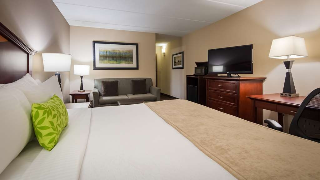 Best Western Plus Willmar - Our One King with sofa bed has all the comforts of home.