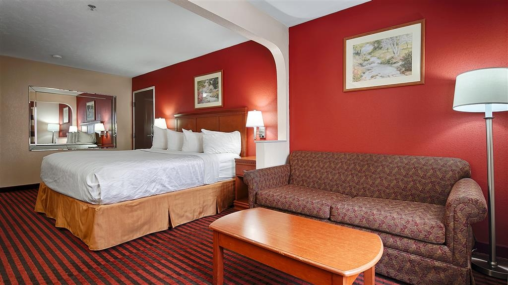 Best Western Canton Inn - There's plenty of space in our king rooms for sleeping, eating and working.