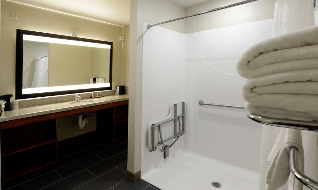 Best Western Plus Clocktower Inn - Mobility Accessible King Pool Room with Large Roll-In Shower