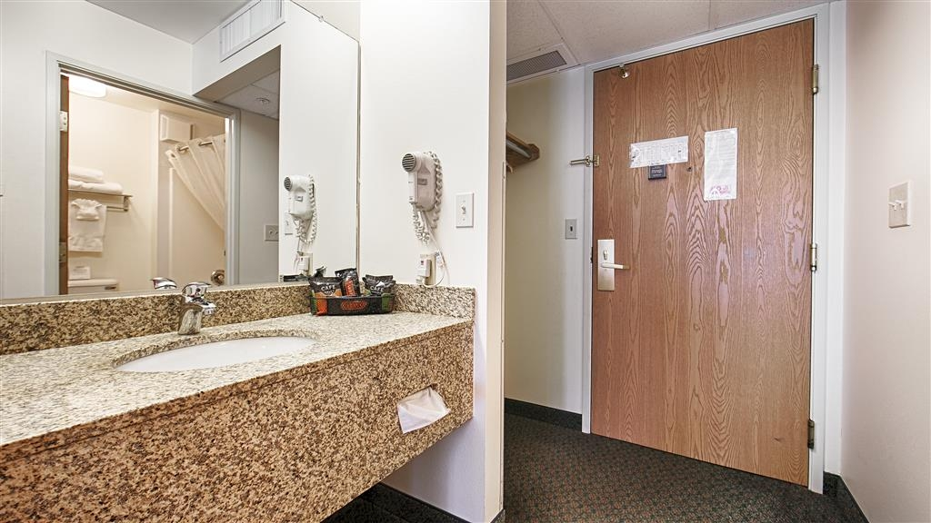 Best Western Yellowstone Crossing - All guests' bathrooms have a large vanity with plenty of room to unpack the necessities.